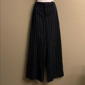 NWOT Gap Blue Pinstripe Wide Leg Pants